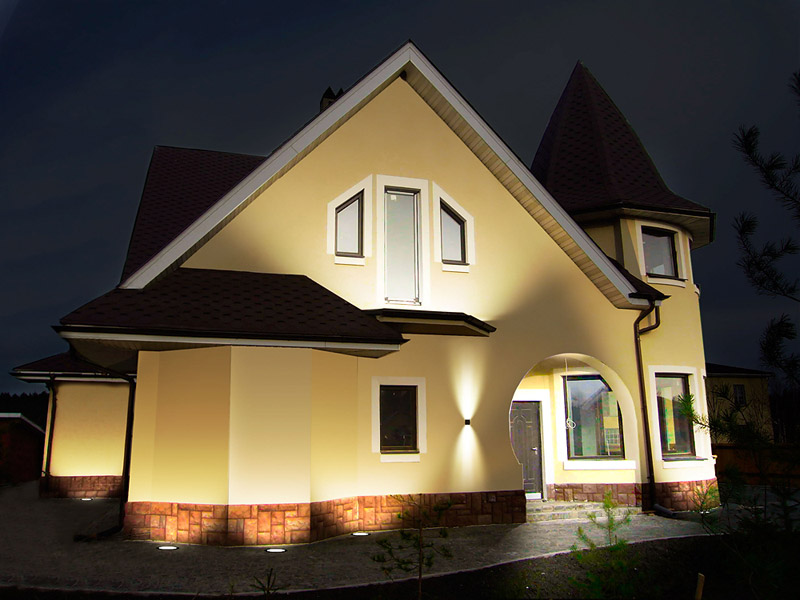 Подсветка дома своими руками фото 260