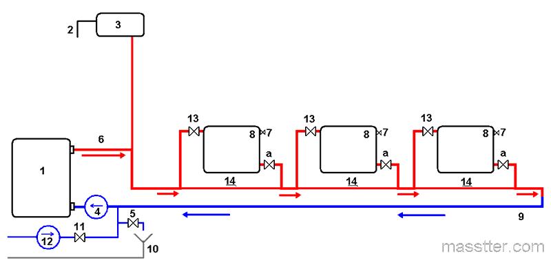 Схема системы отопления видео фото 194