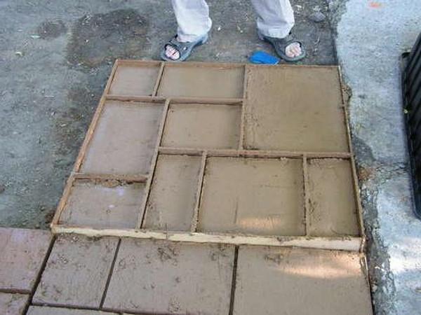 Изготовление тротуарной плитки своими руками видео фото 18