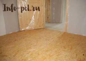 Укладка дсп на деревянный пол пошагово
